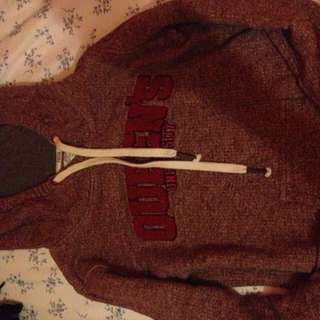 Queens University Maroon And Salt And Pepper Sweater