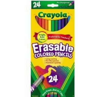 Crayola Erasable Colour Pencils, 24ct