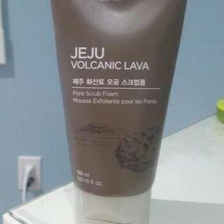 The Face Shop Face Pore Scrub From The Jeju Volcanic Lava Collection