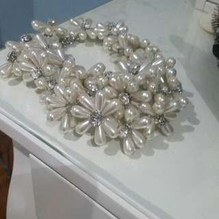 Aldo Pearl Statement Necklace