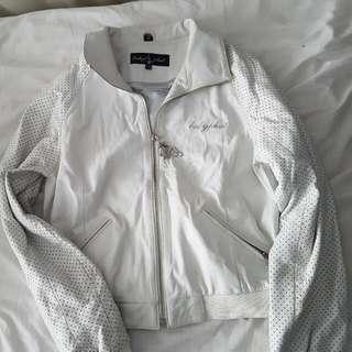 Babt Phat Old Skool Leather Jacket White