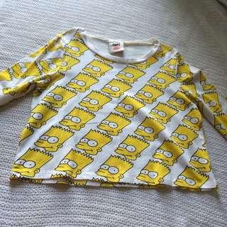 Simpsons Crop Top