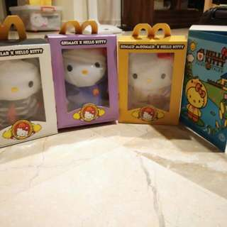 McDonalds Hello Kitty 4 Boxes / Types