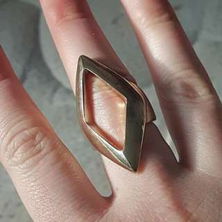 Diamond Shape Gold Ring (Part of Package)