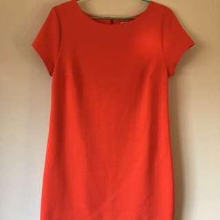 Orange T-Shirt Dress