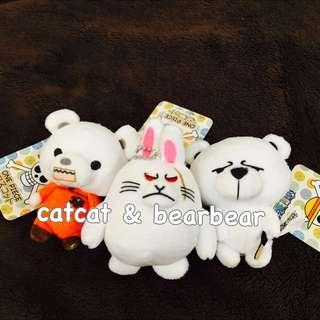 日本 海賊王 熱門動物吊飾 貝波熊/登山熊/雪兔拉邦