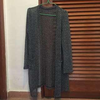 Grainy Grey Long Cardigan