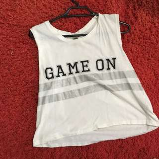 'Game on' Crop tee