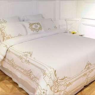 Bedsheet Set White & gold