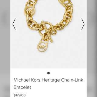 Authentic Michael Kors Heritage Chain-link Bracelet