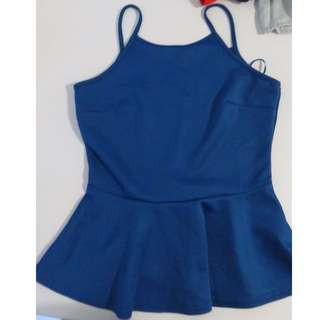 Blue Peplum Top from TEMT
