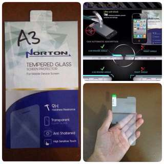 TEMPERED GLASS NORTON FOR SAMSUNG GALAXY A3 (2015)