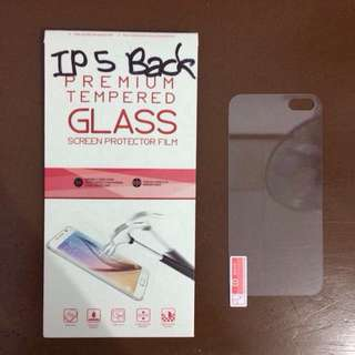 TEMPERED GLASS FOR IPHONE 5/5S BACK