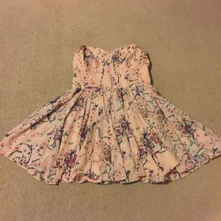 Sportsgirl Strapless Floral Party Dress
