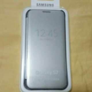 Brand New Samsung S7 Silver Clear Cover
