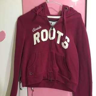 Root 短版外套 酒紅色