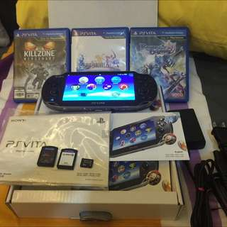 Ps Vita 1007(wifi), 8GB, Complete Set, 5 Games.