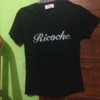 Kaos Black Ricoche Barbie