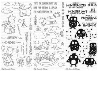 My Favorite Things Clear Stamps August Releases Soak Up The Fun Magical dragons