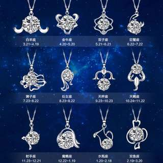 925 Silver Horoscope Zodiac Necklace