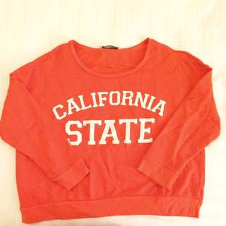 (REPRICE) Pull&Bear CALIFORNIA STATE Cropped Sweatshirt