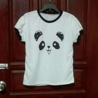 Panda White Tee