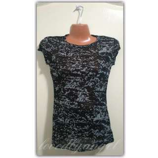 Semi see-through Ladies Shirt (081816-2BLA)