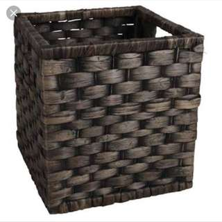 Make An Offer Square Cane Basket Dark colour