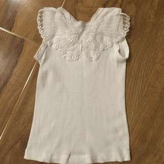 Alex And Charli Baby Girl Lace Wing Singlet Size 1