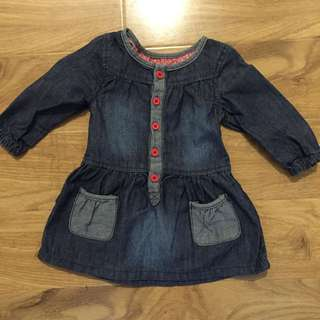 Baby Girl Mothercare Dress 3-6 Months