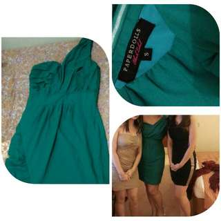 SALE!!!!  Now P500 Only!  Asymmetrical Green Cocktail Dress