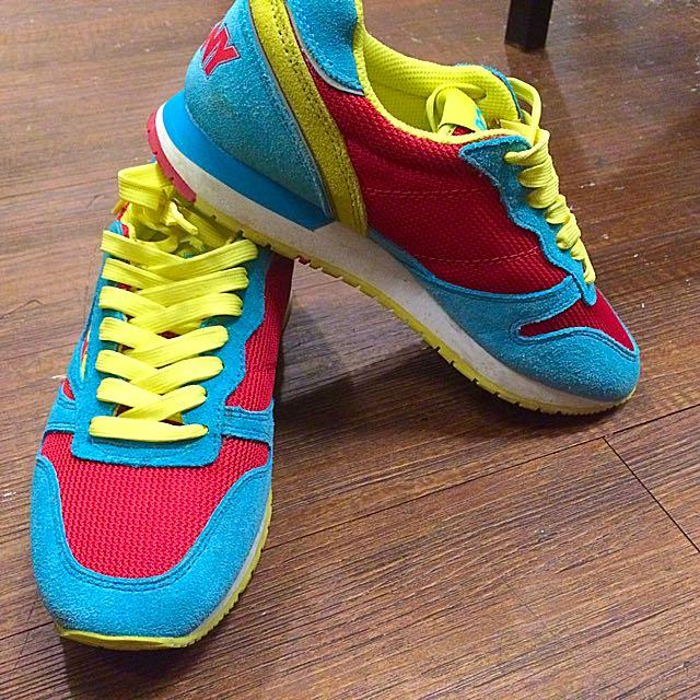 9成新Pony 湖綠/紅/嫩黃 運動鞋
