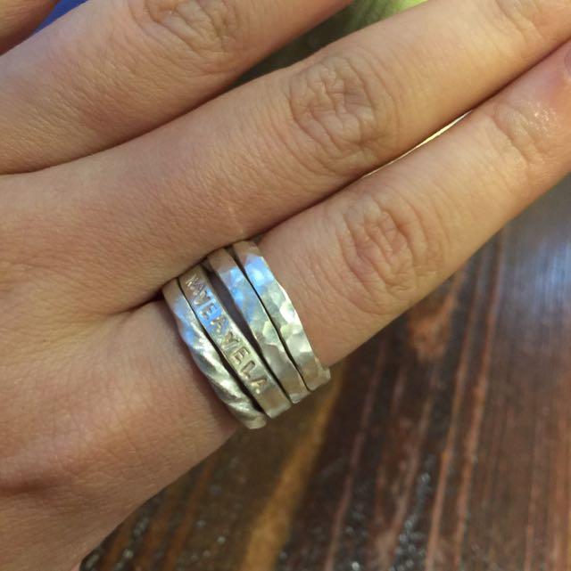 《手做設計》純銀戒指三件一組