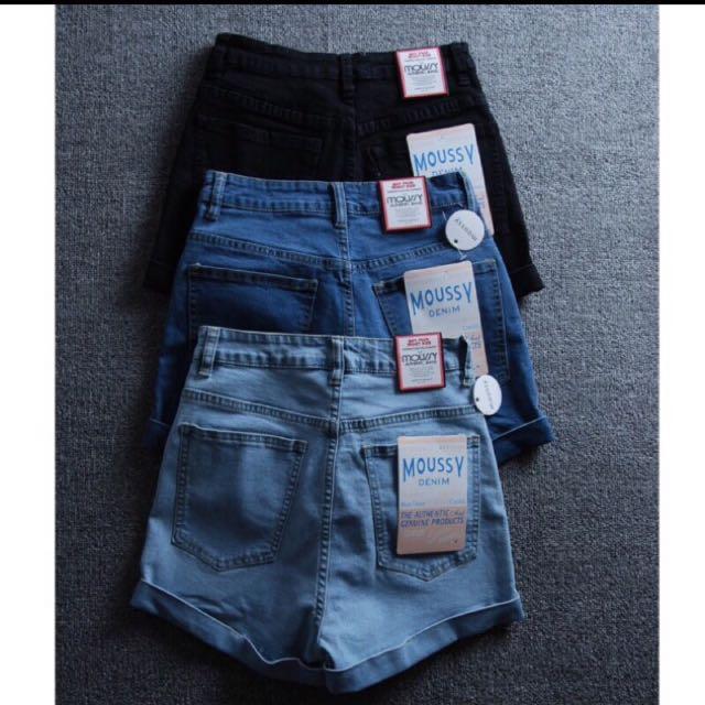 超推👍日單品牌牛仔高腰修身短褲