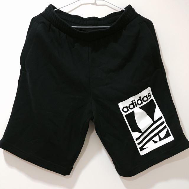 Adidas 黑色棉短褲