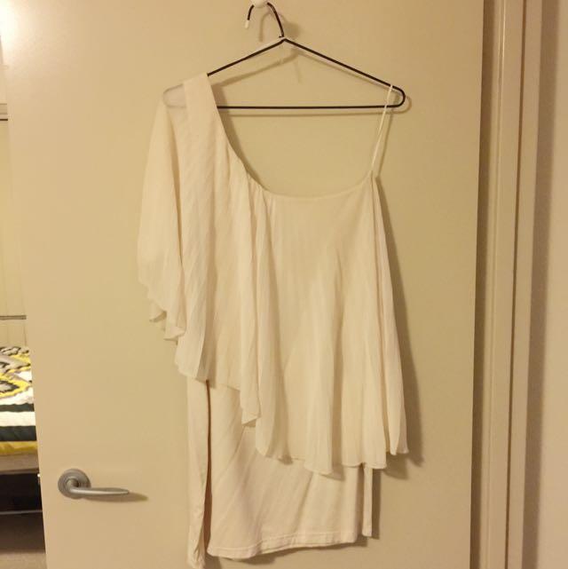 Asos White Asymmetrical Party Dress