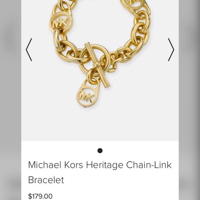 Authentic Michael Kors Heritage Chain-link Bracelet