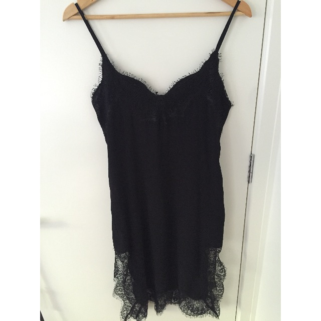 Bardot abbie lace slip dress