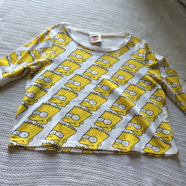 Simpsons Crop Top