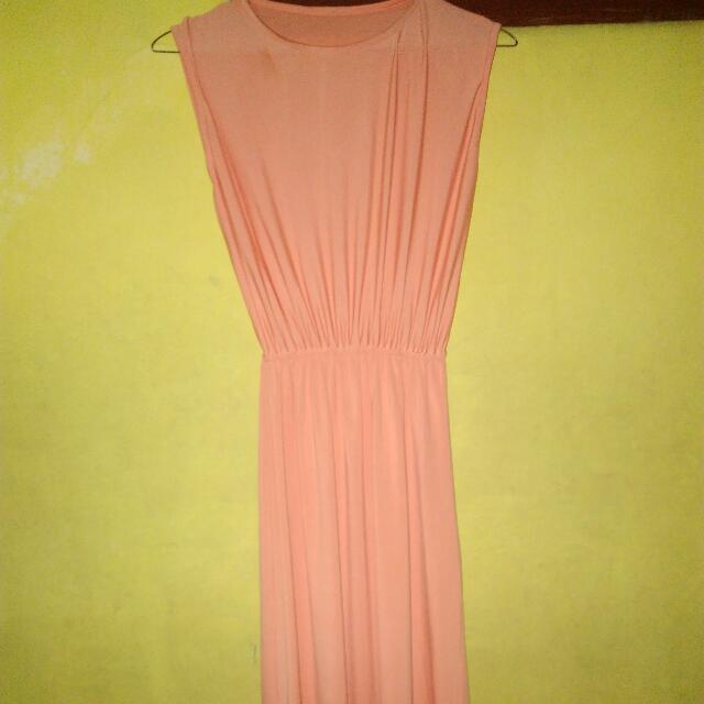 Basic Peach Long Dress
