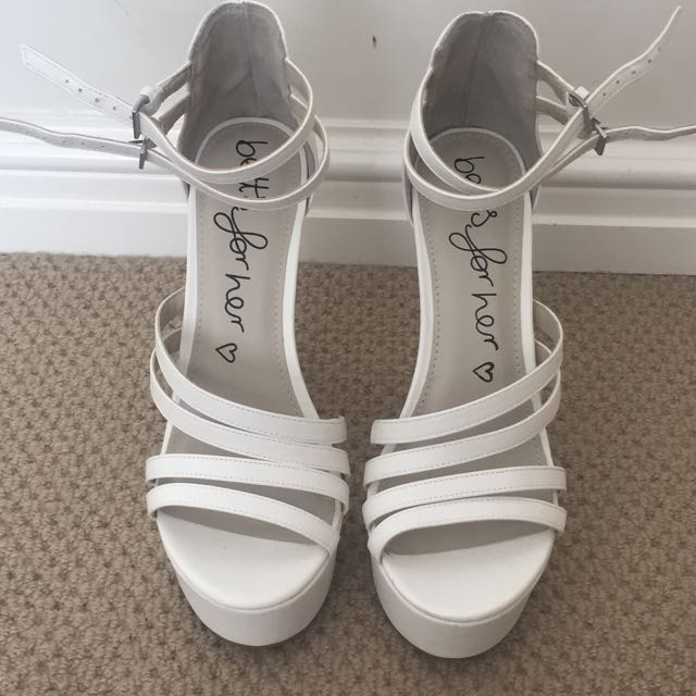 *sale pending* Betts White High Heel (size 8)
