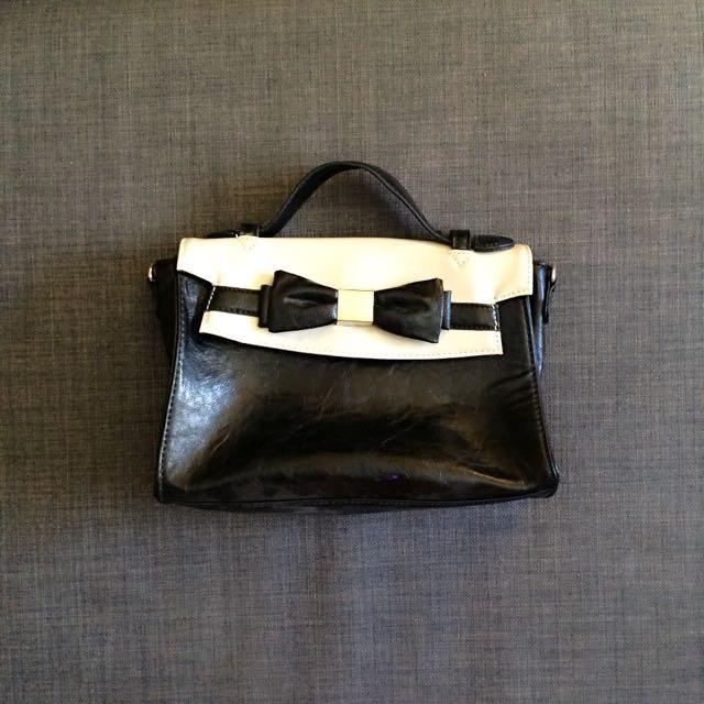 Black And Cream Bag