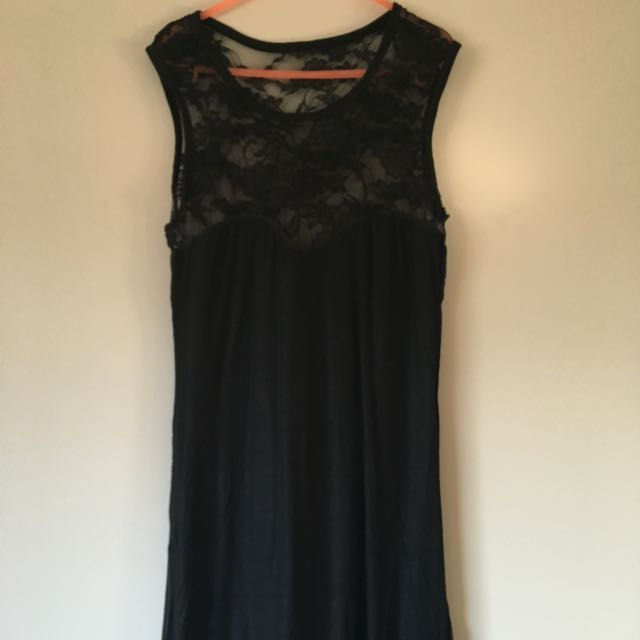 Black Half Lace Dress