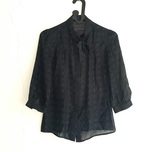 INVIO Black Women Blouse