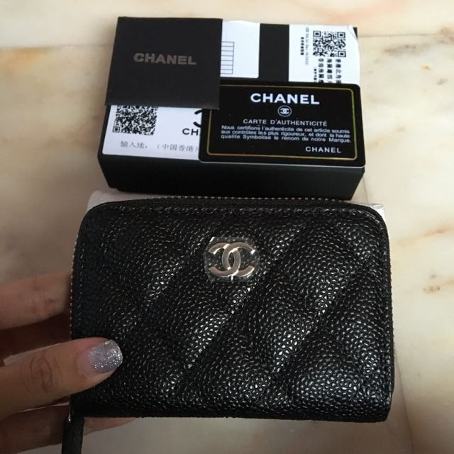 factory authentic limited quantity large assortment Last Piece~ BNIB Chanel Small Zip Around Carviar Card Case ...