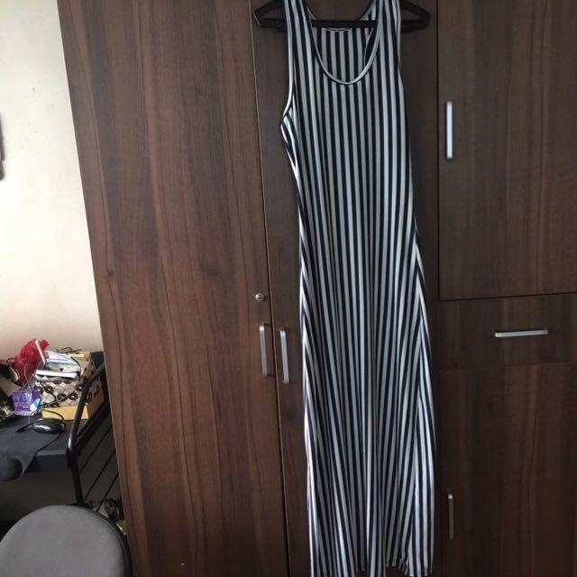 Body Fit Stripes Long Dress