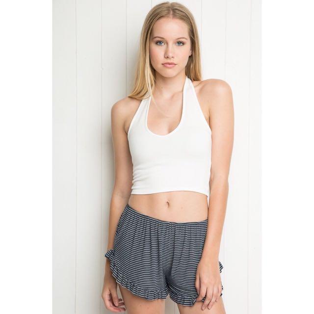 Brandy Melville Stripe Navy Shorts