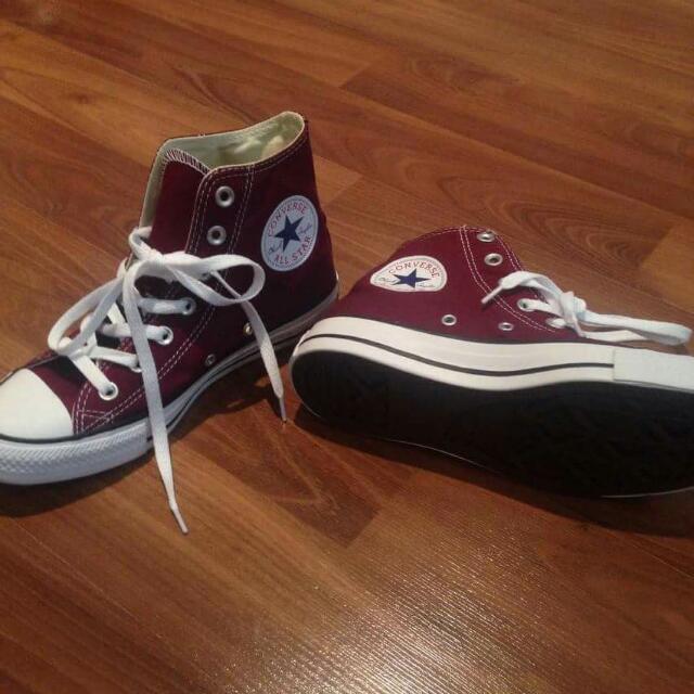 Burgundy Converse