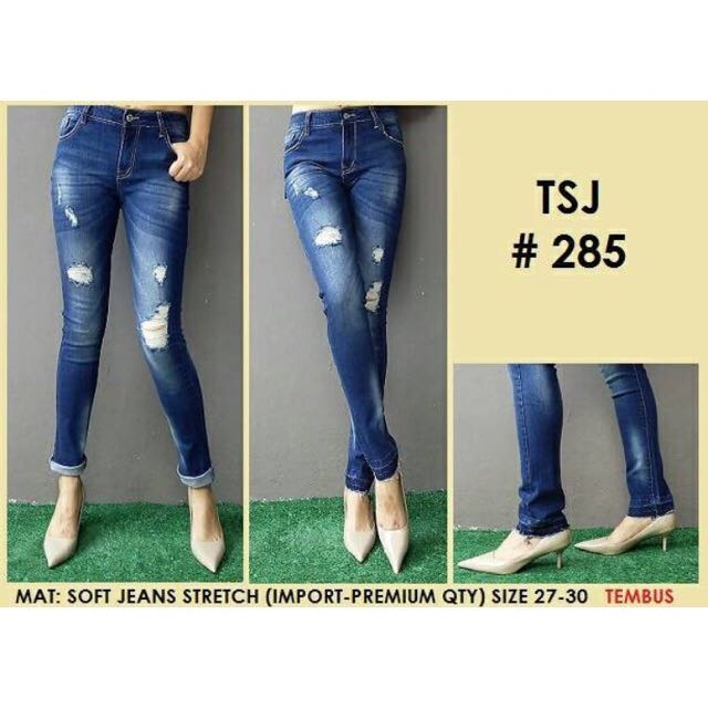 Celana Jeans Ripped Import