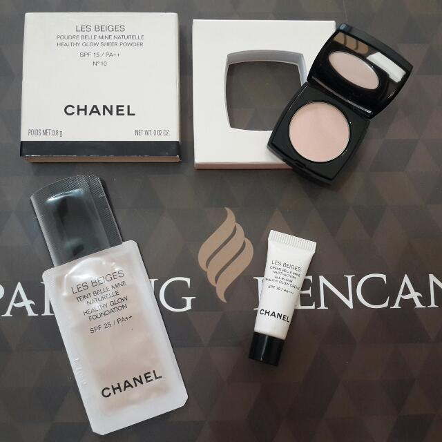 Bedak Chanel Les Beiges Travel Size (Compact,cream,foundation) 100% Original And NEW